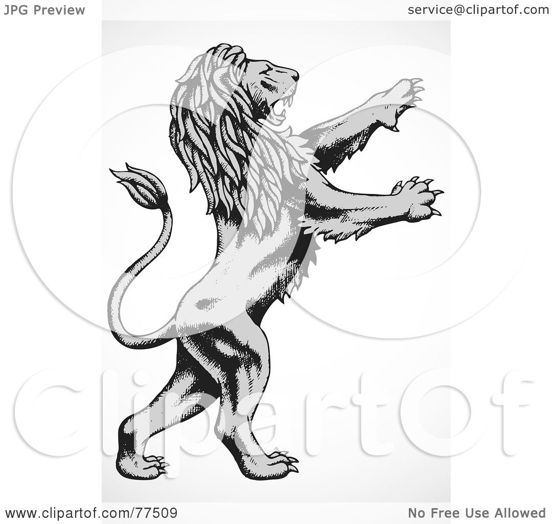 Royalty-Free (RF) Clipart Illustration of a Gray And Black ...