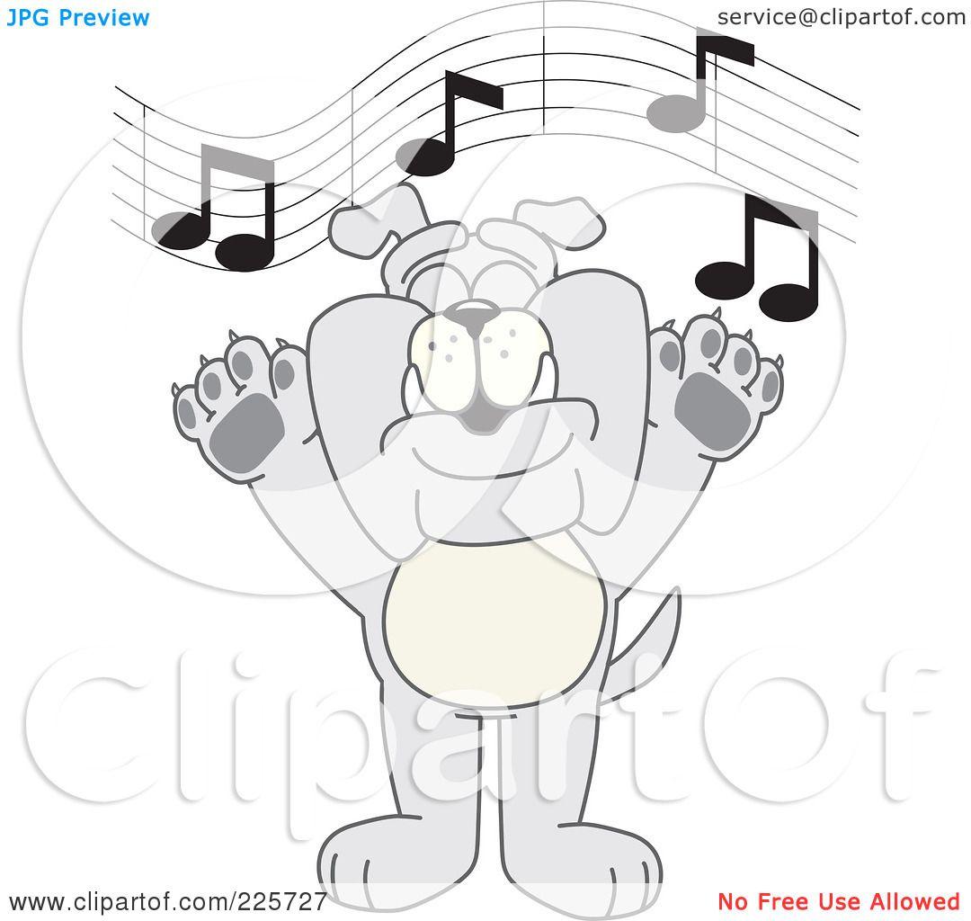 Royalty Free Rf Clipart Illustration Of A Gray Bulldog Mascot