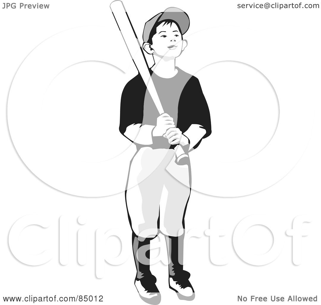 RoyaltyFree RF Clipart Illustration of a Grayscale