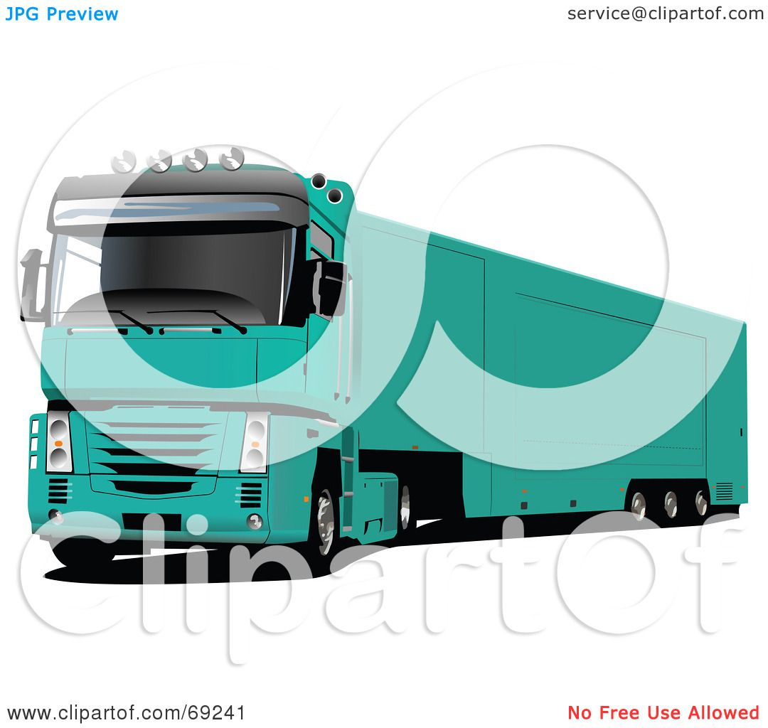 Green truck clipart royalty free rf pickup truck clipart - Royalty Free Rf Clipart Illustration Of A Green 3d Lorry Truck By Leonid