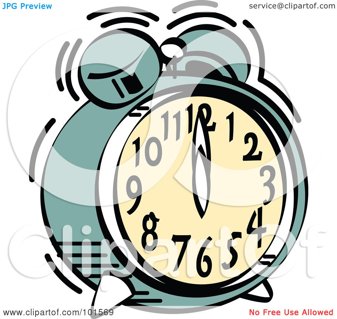 royalty free rf clipart illustration of a green alarm clock rh clipartof com Clock Face Clip Art 214 New Year's Clock Clip Art