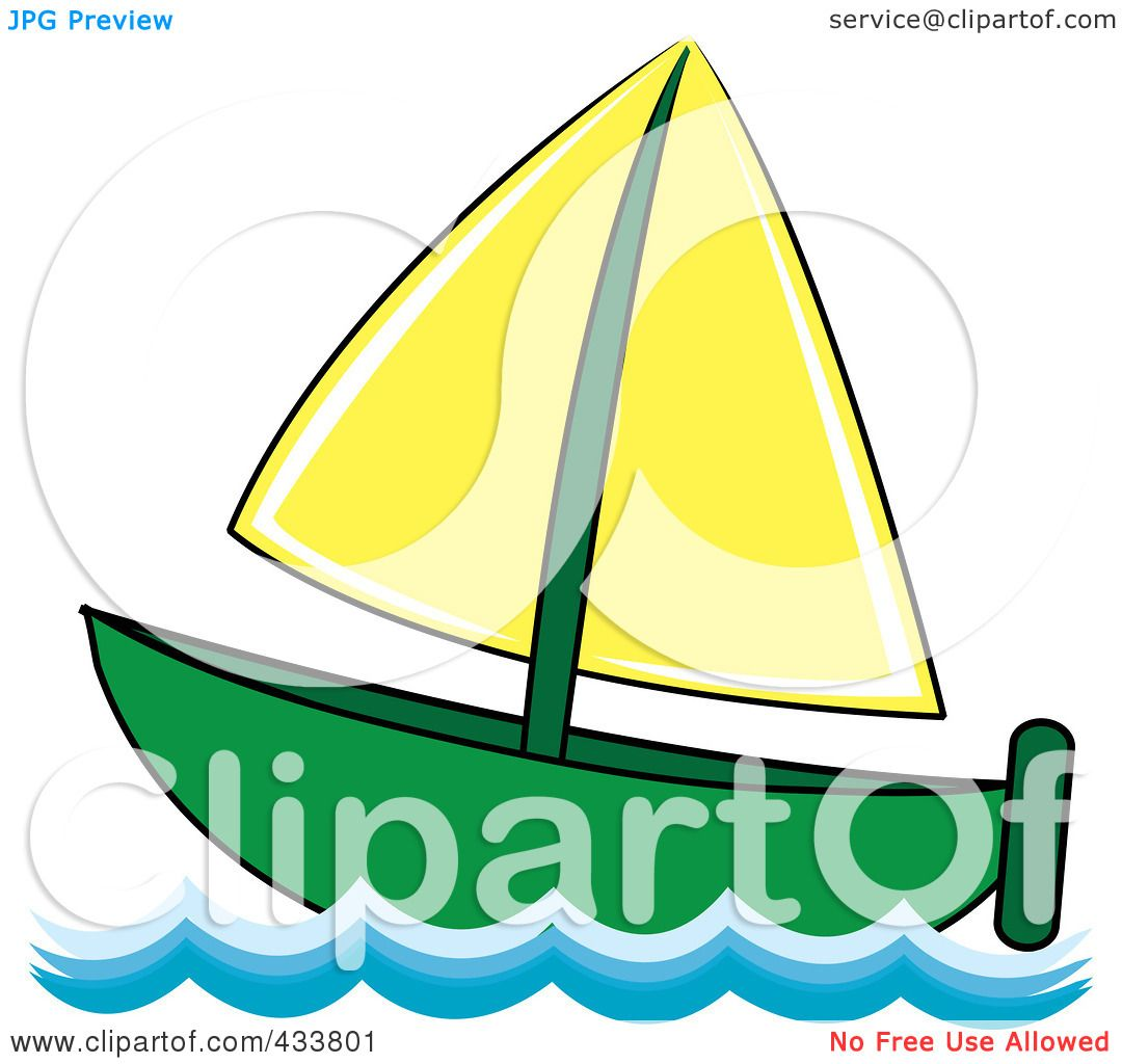 Royalty-Free (RF) Clipart Illustration of a Green And ...
