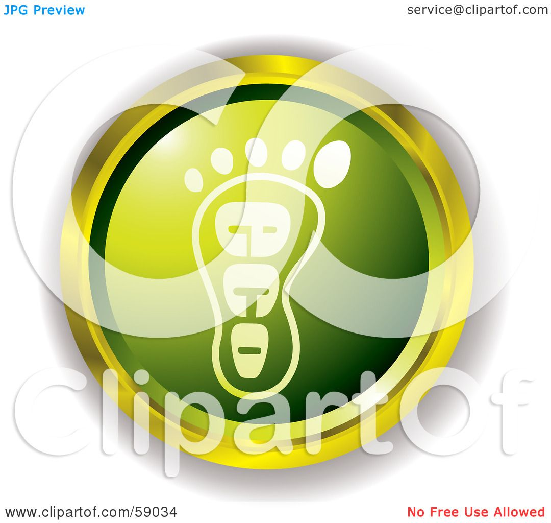 Royalty-Free (RF) Clipart Illustration of a Green Eco Footprint ...