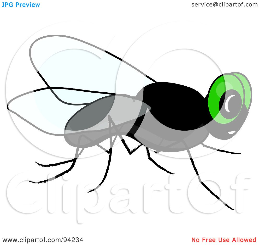 Royalty-Free (RF) Clipart Illustration of a Green Eyed Pesky House ...
