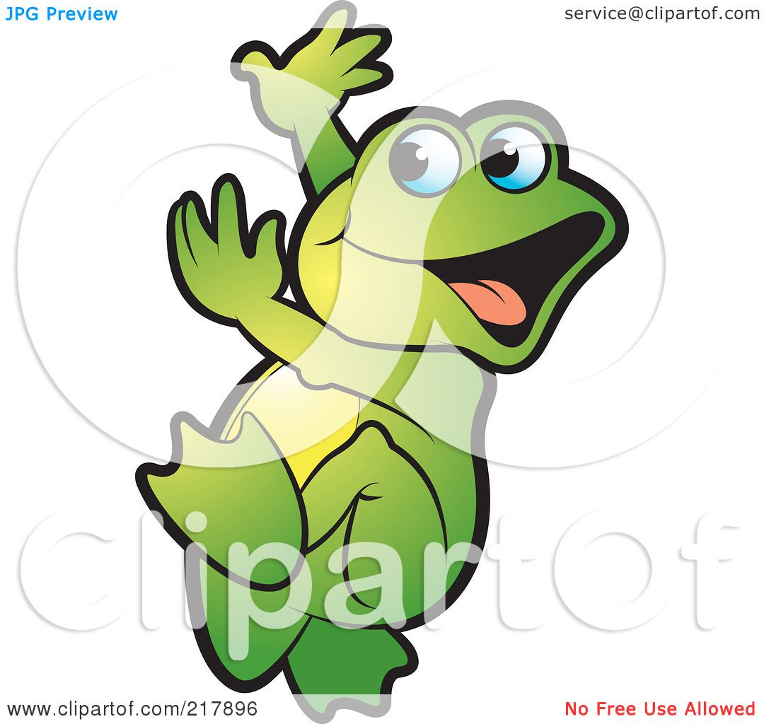 Happy frog clip art