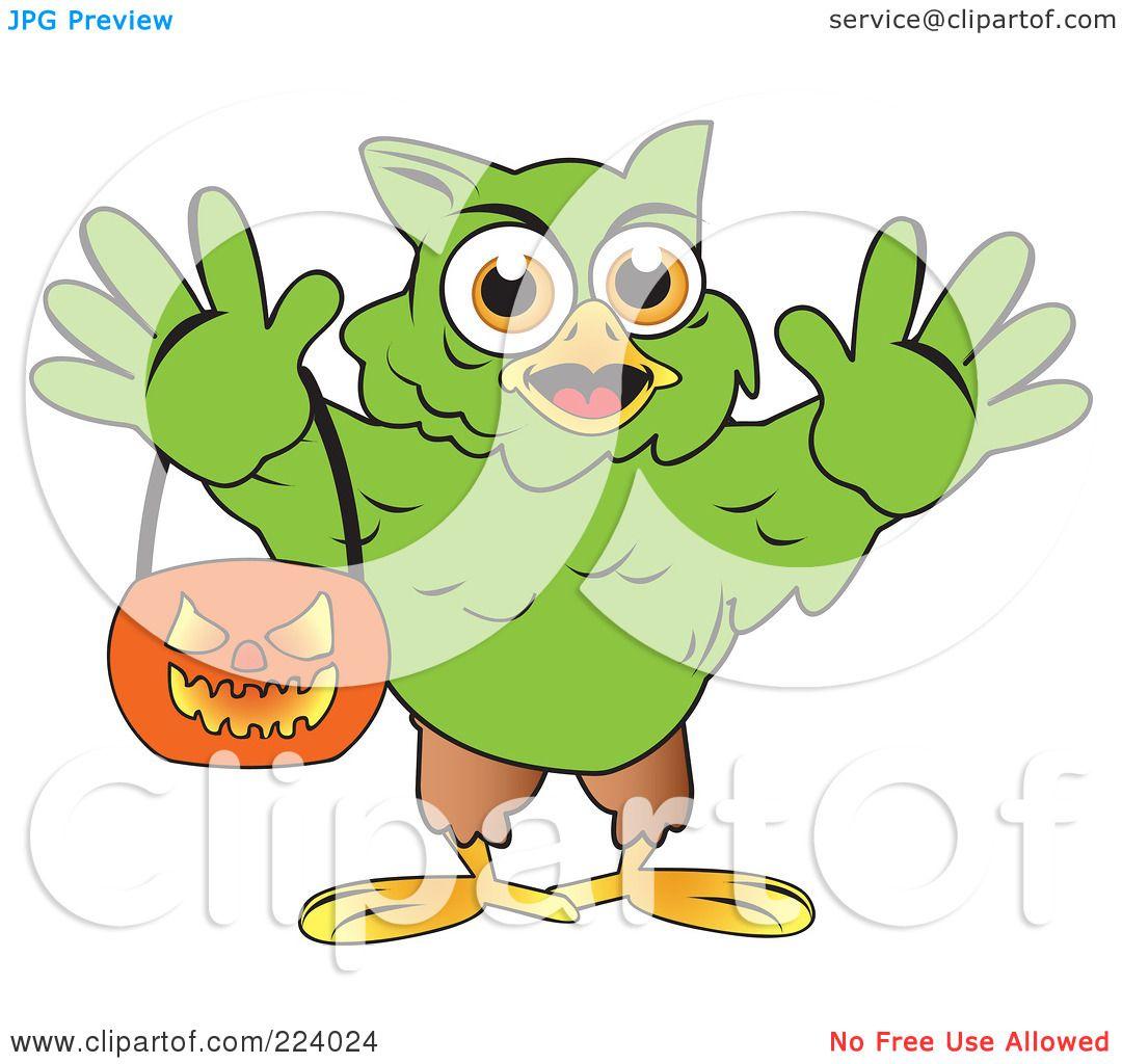 royalty free rf clipart illustration of a green halloween hulk