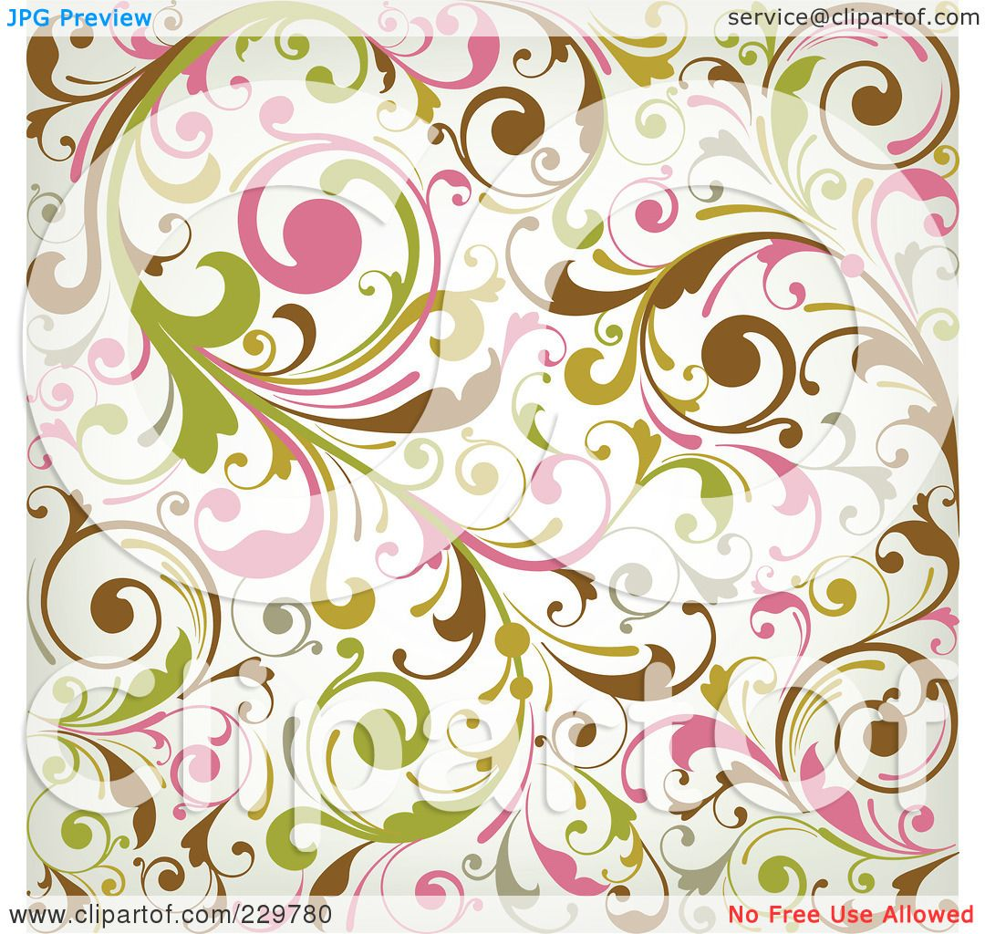 Royalty-Free-RF-Clipart-Illustration-Of-A-Green-Pink-Brown-And-Off ...: galleryhip.com/off-white-backdrop.html