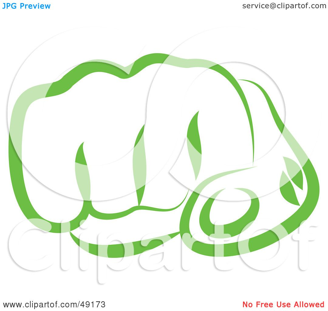 Royalty Free Rf Clipart Illustration Of A Green Punching Fist By Prawny 49173