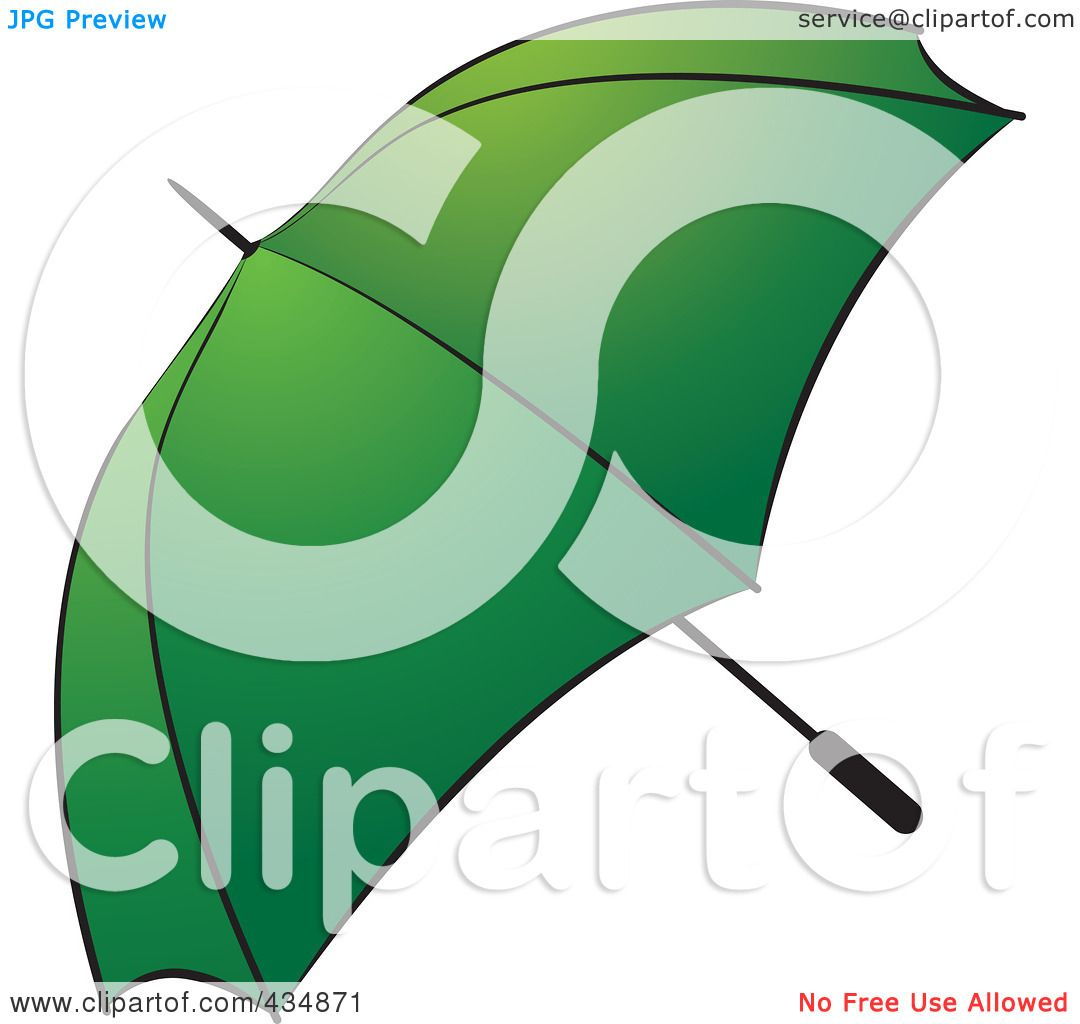 Viewing Gallery For - Green Umbrella Clip Art