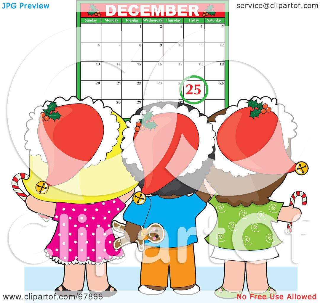 Calendar Art For Kids : Royalty free rf clipart illustration of a group