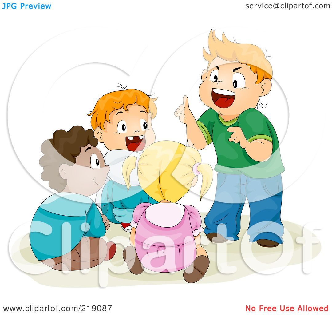 Royalty-Free (RF) Clipart Illustration of a Group Of ...