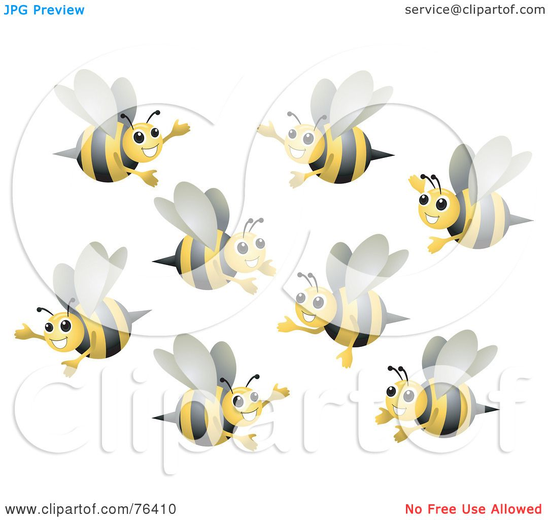 Royalty-Free (RF) Clipart Illustration of a Group Of Happy ...
