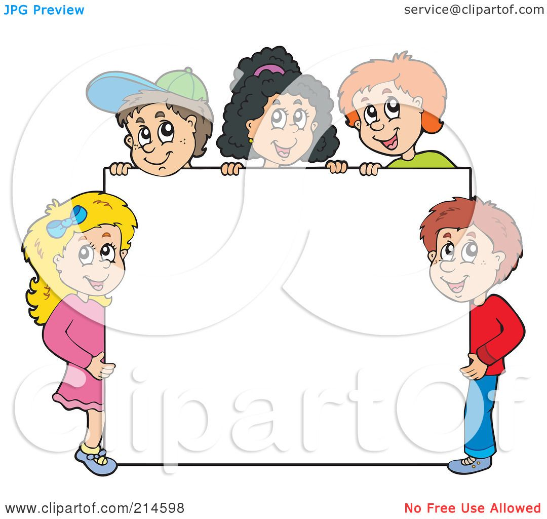Royalty Free RF Clipart Illustration Of A Group School Children