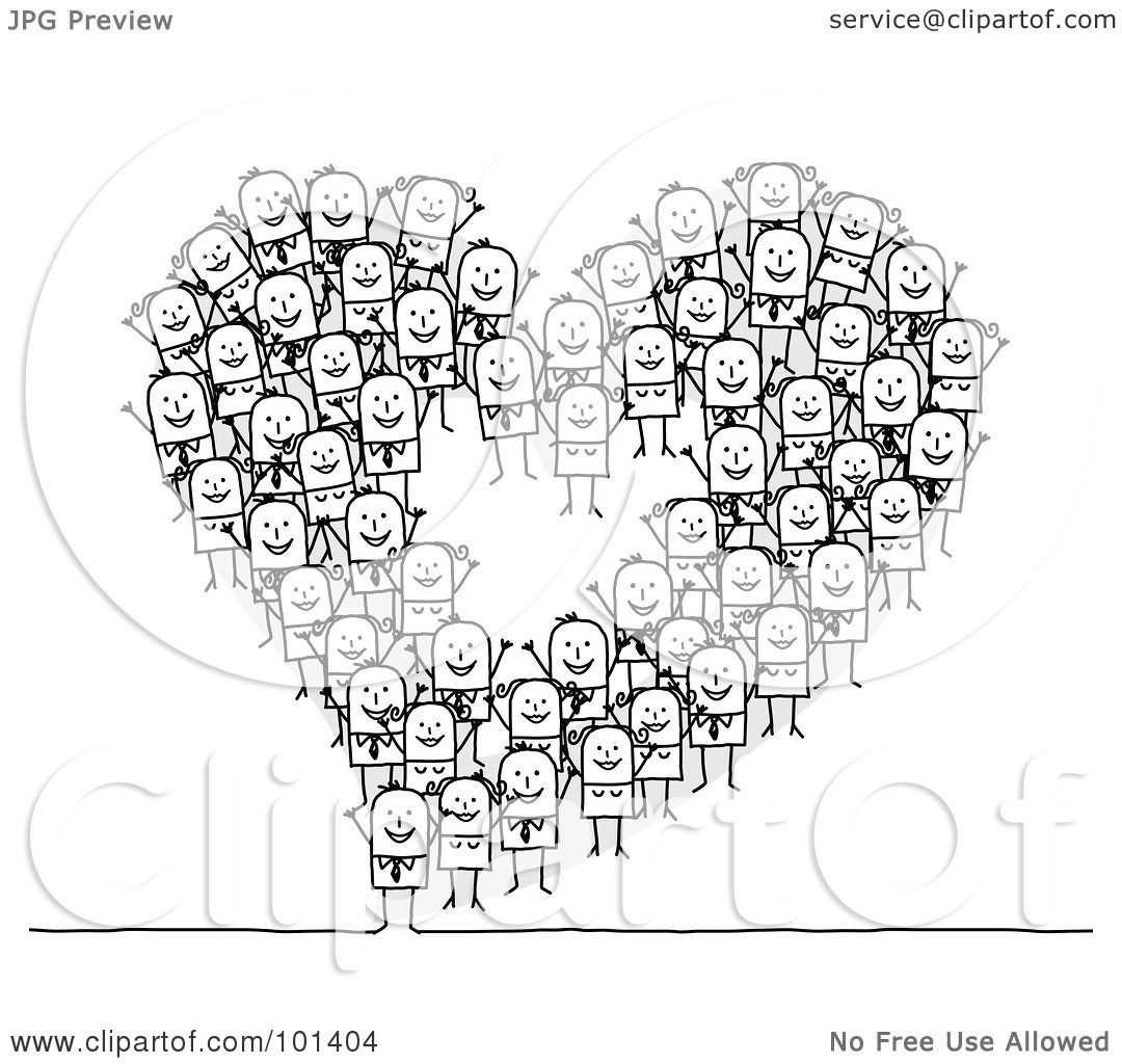 Royalty Free Rf Clipart Illustration Of A Group Of Stick