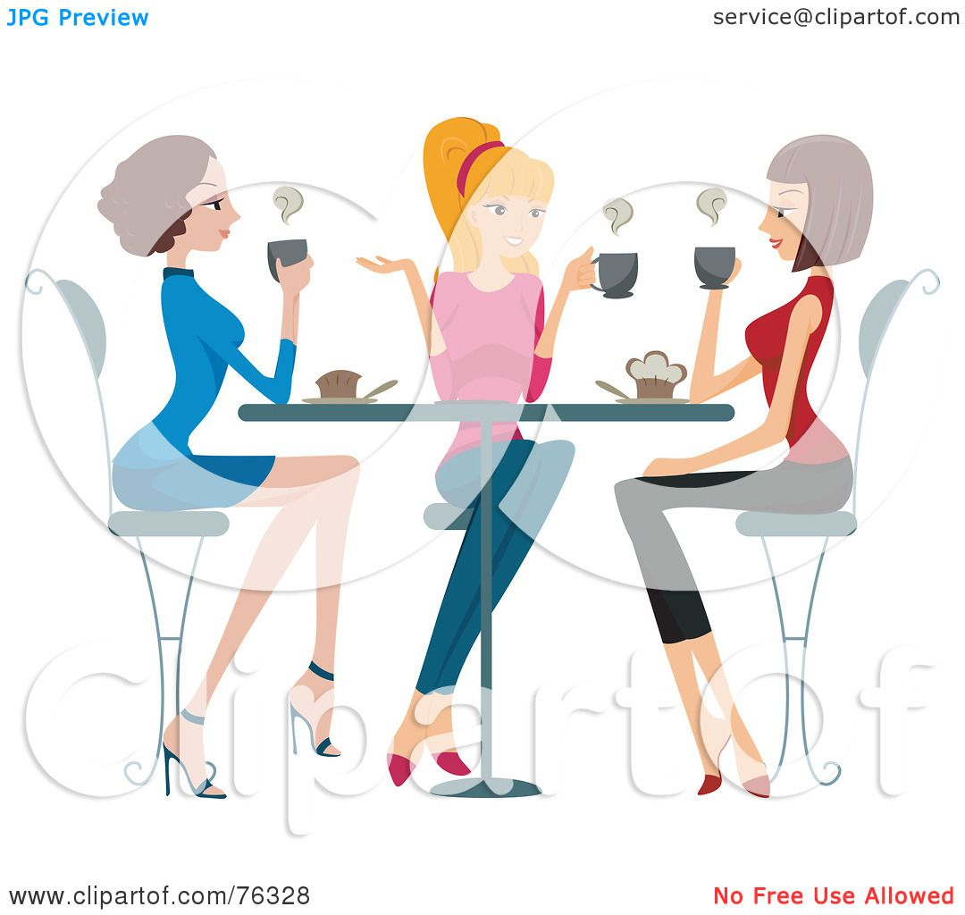 Free rf poodle clipart illustration 215241 by bnp design studio - Royalty Free Rf Clipart Illustration Of A Group Of Young Ladies Chatting Over Coffee