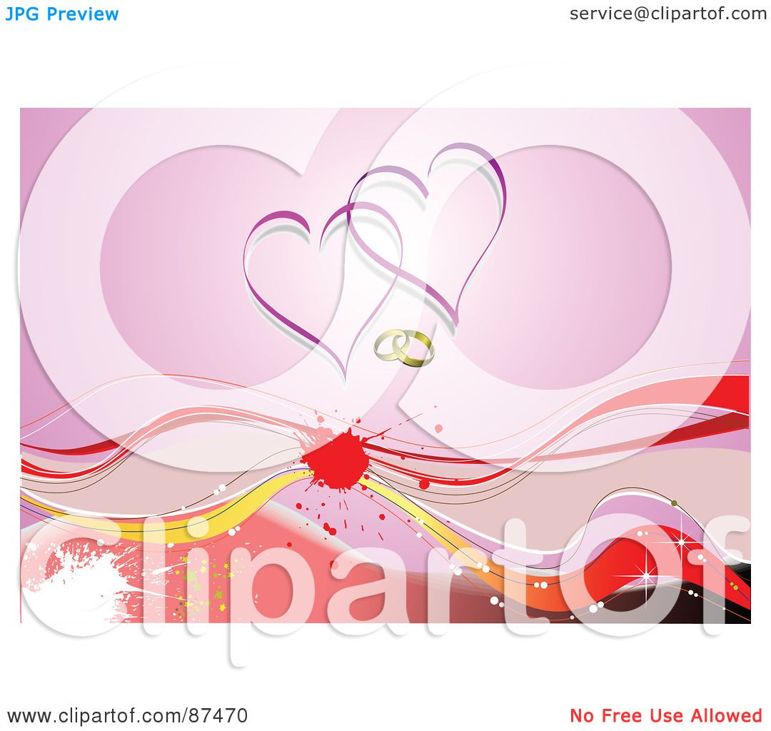 Royalty-Free (RF) Clipart Illustration of a Grungy Horizontal Heart ...