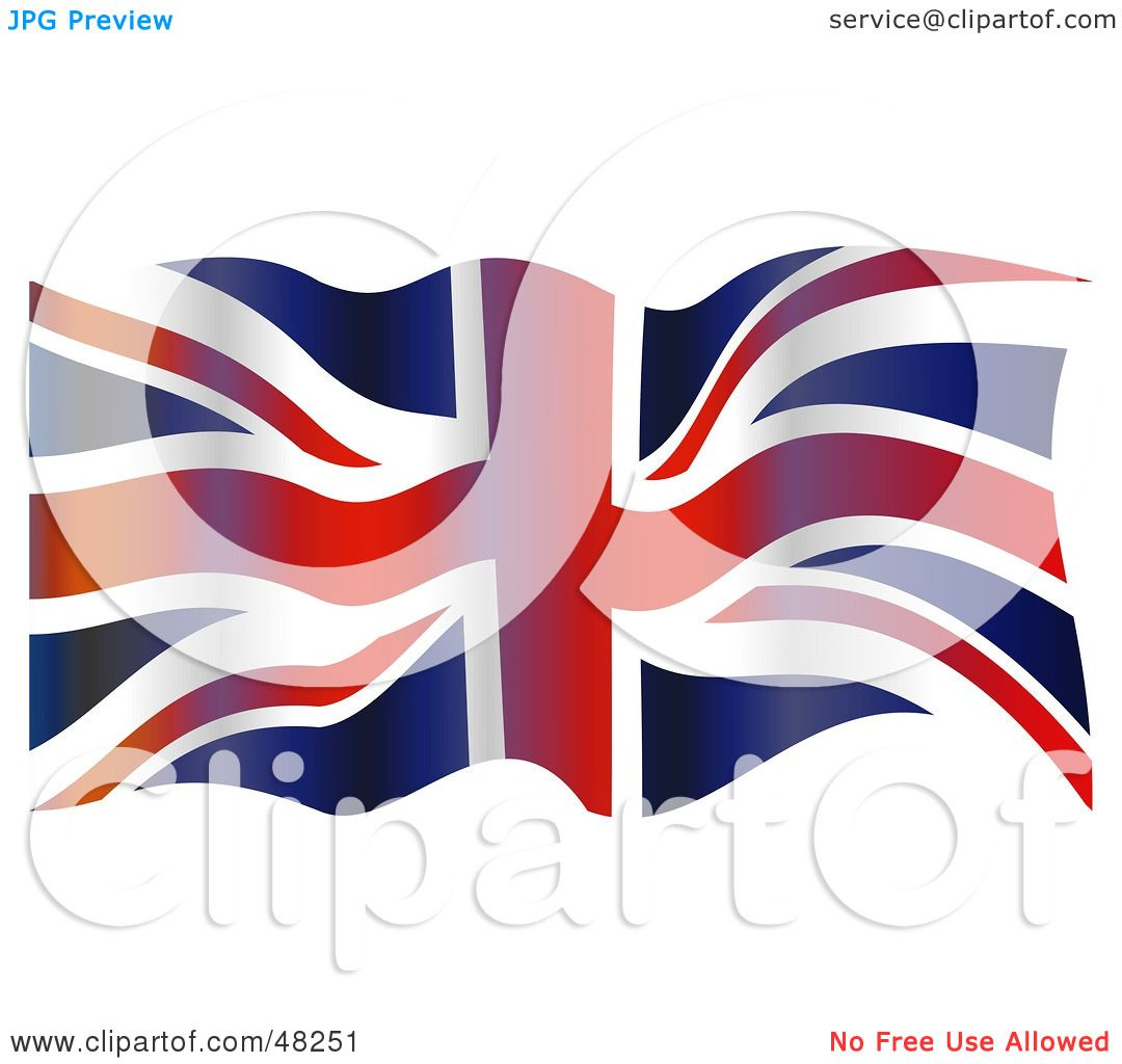Royalty-Free (RF) Clipart Illustration of a Grungy Waving ...