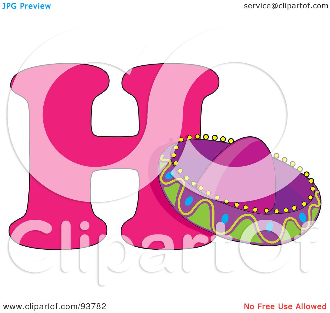 royalty free rf clipart illustration of a h is for hat learn the alphabet scene by maria bell