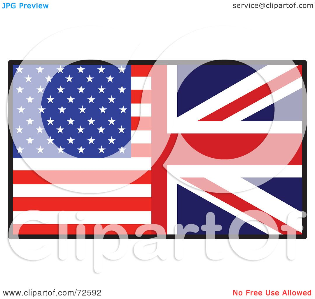 RoyaltyFree RF Clipart Illustration of a Half American