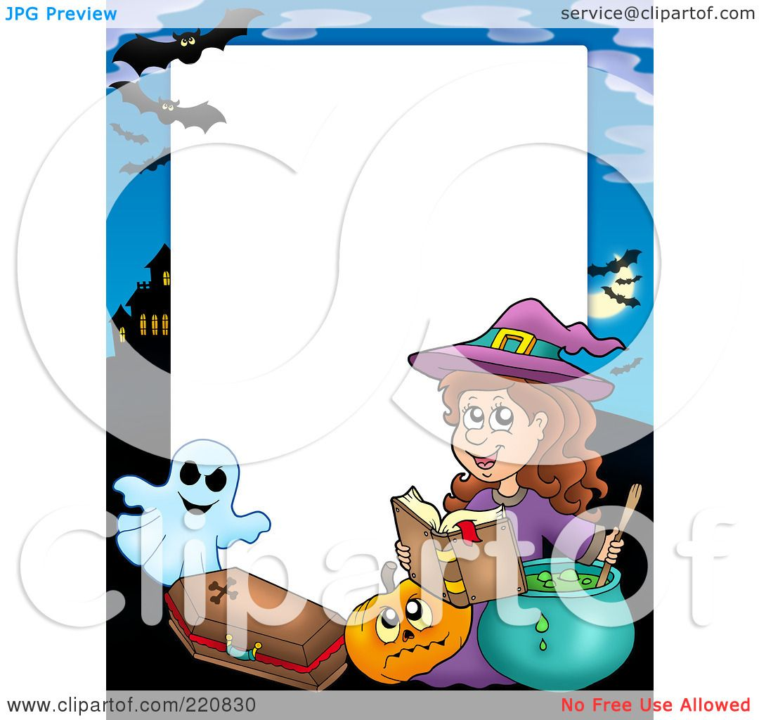 Royalty-Free (RF) Clipart Illustration of a Halloween Frame Of A ...