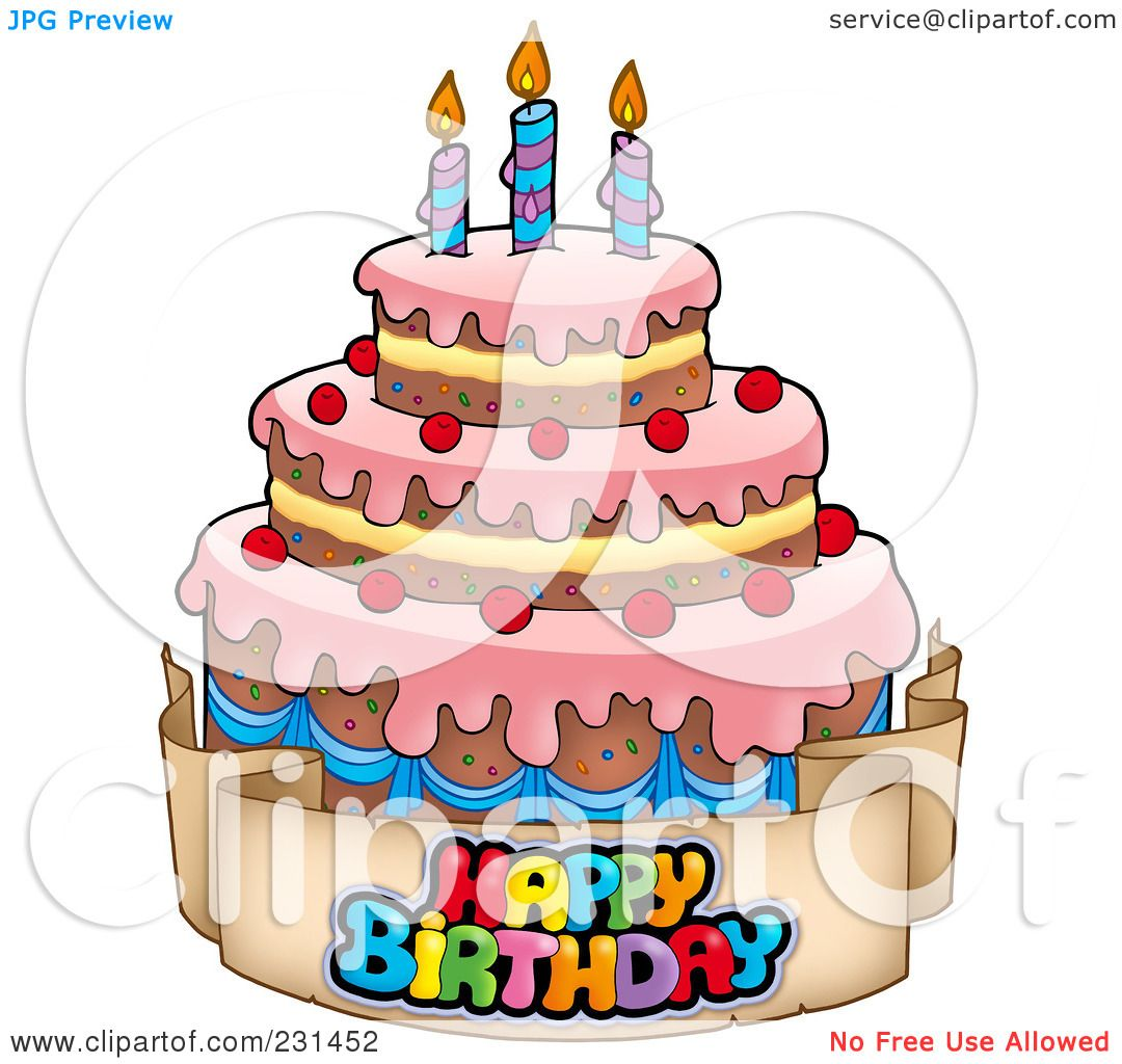 Royalty Free Rf Clipart Illustration Of A Happy Birthday