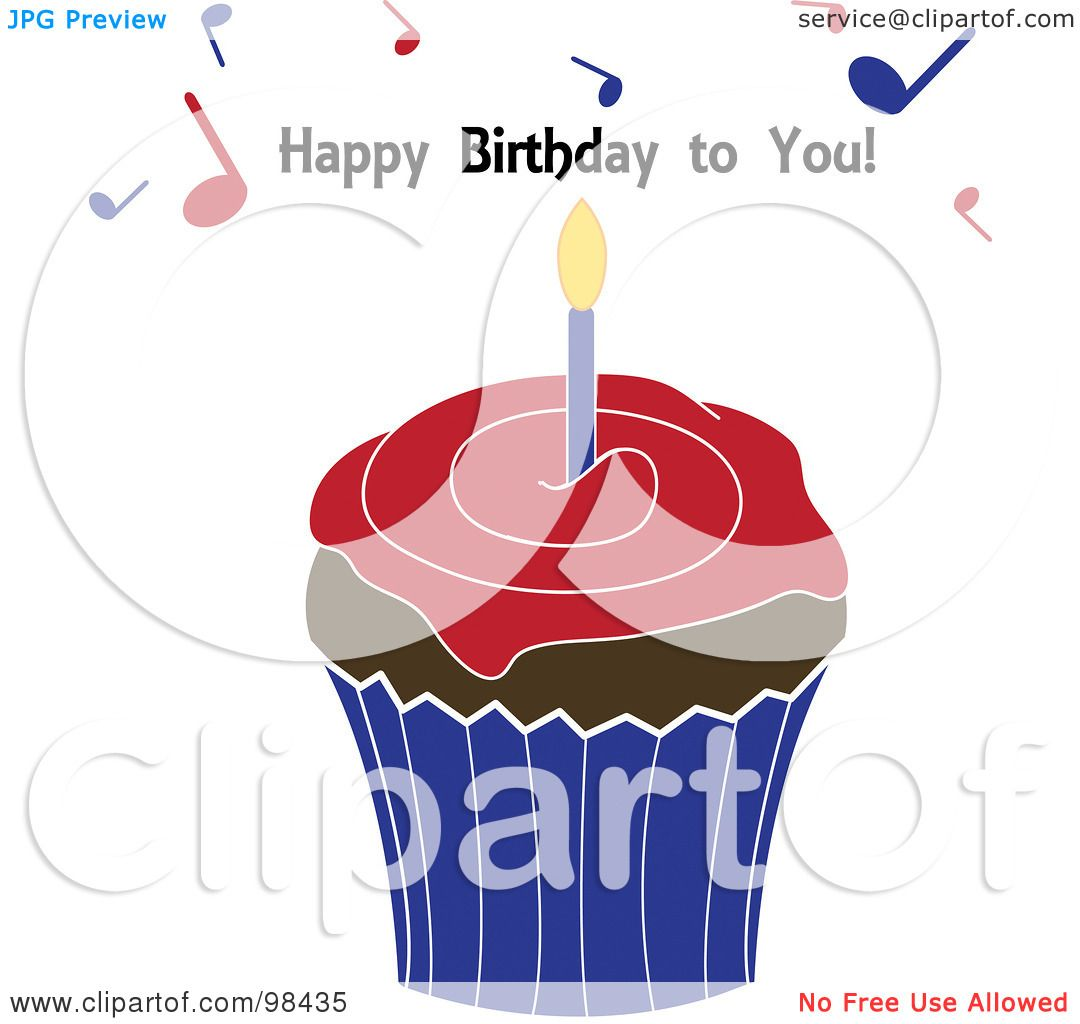 Royalty-Free (RF) Clipart Illustration Of A Happy Birthday