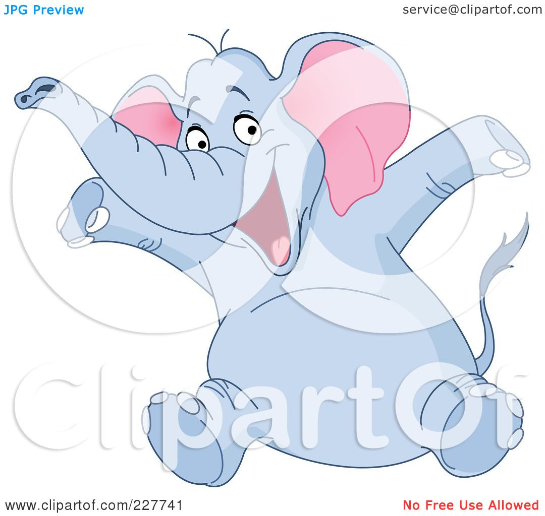 Royalty-Free (RF) Clipart Illustration of a Happy Blue ...