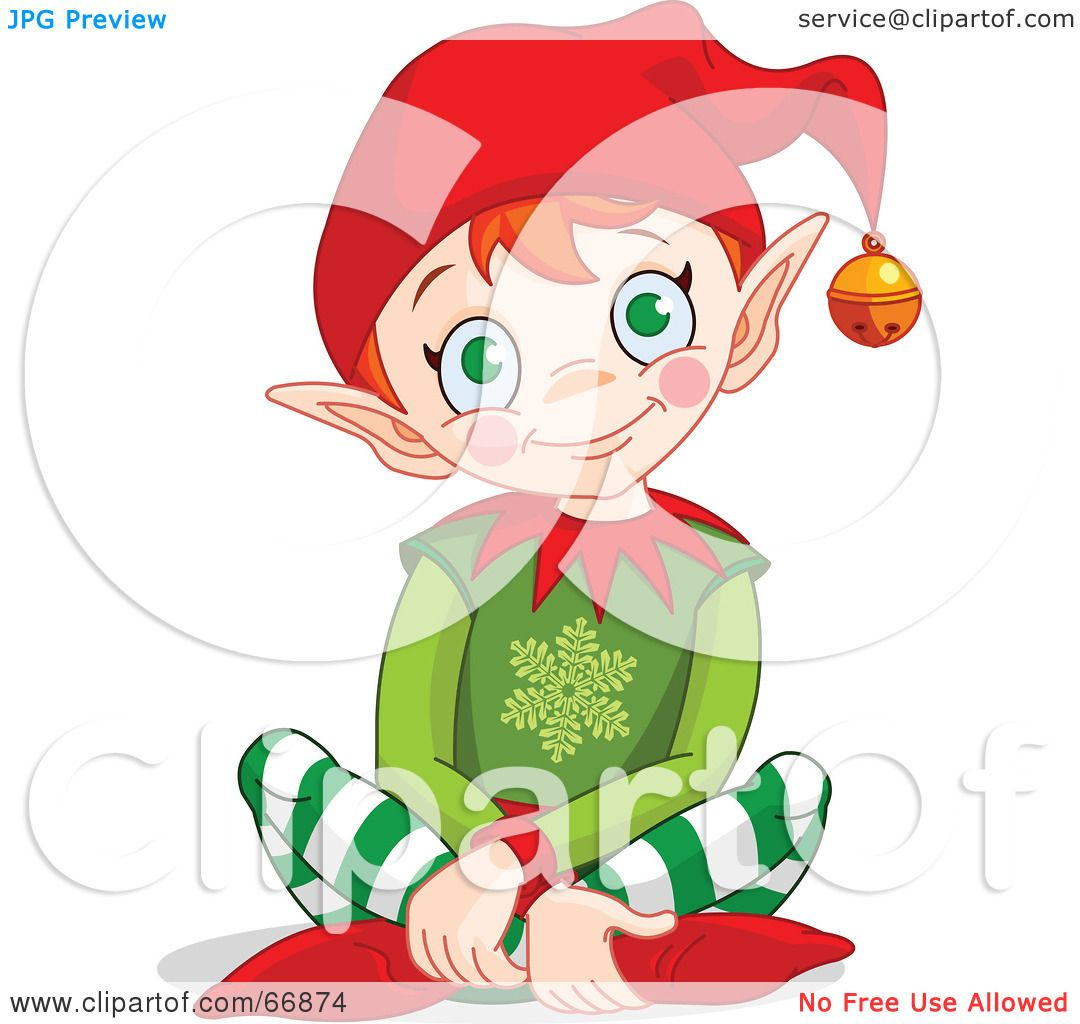 royalty free rf clipart illustration of a happy christmas elf