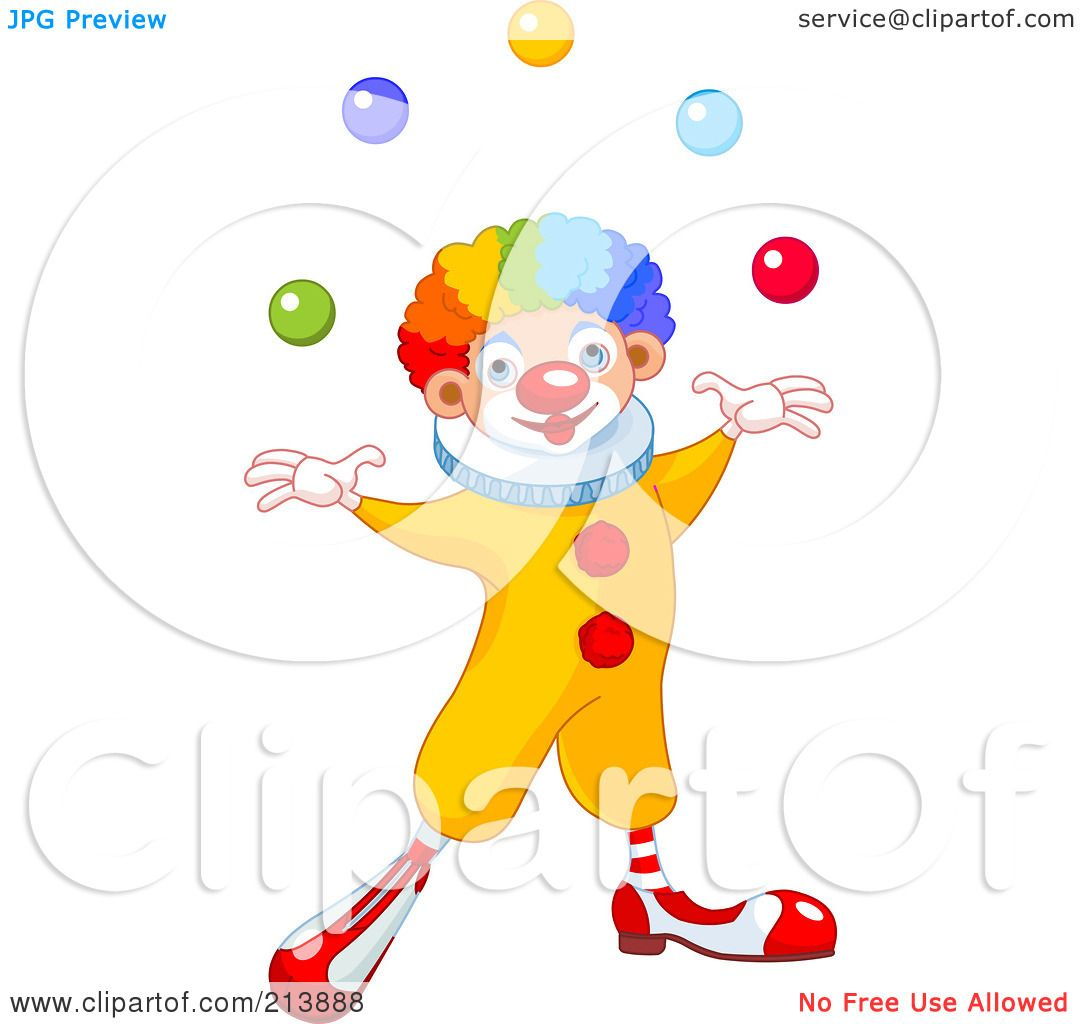 royalty free rf clipart illustration of a happy clown with