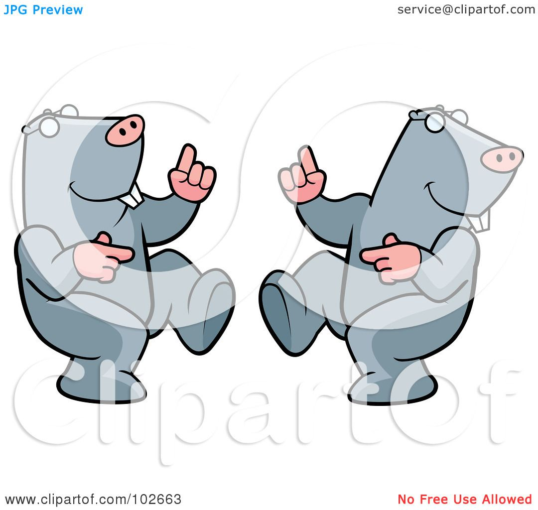 Royalty-Free (RF) Clipart Illustration of a Happy Dancing Mole ...
