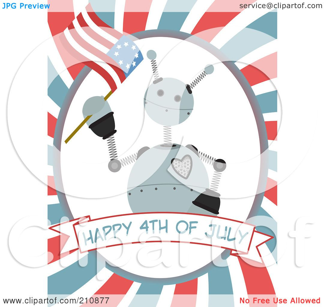 Royalty-Free (RF) Clipart Illustration of a Happy Fourth ...