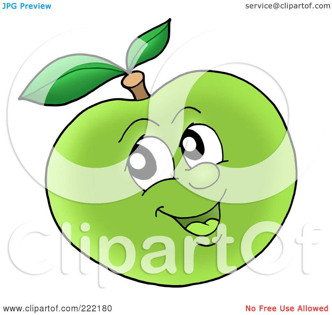 Royalty Free Rf Clipart Illustration Of A Happy Green