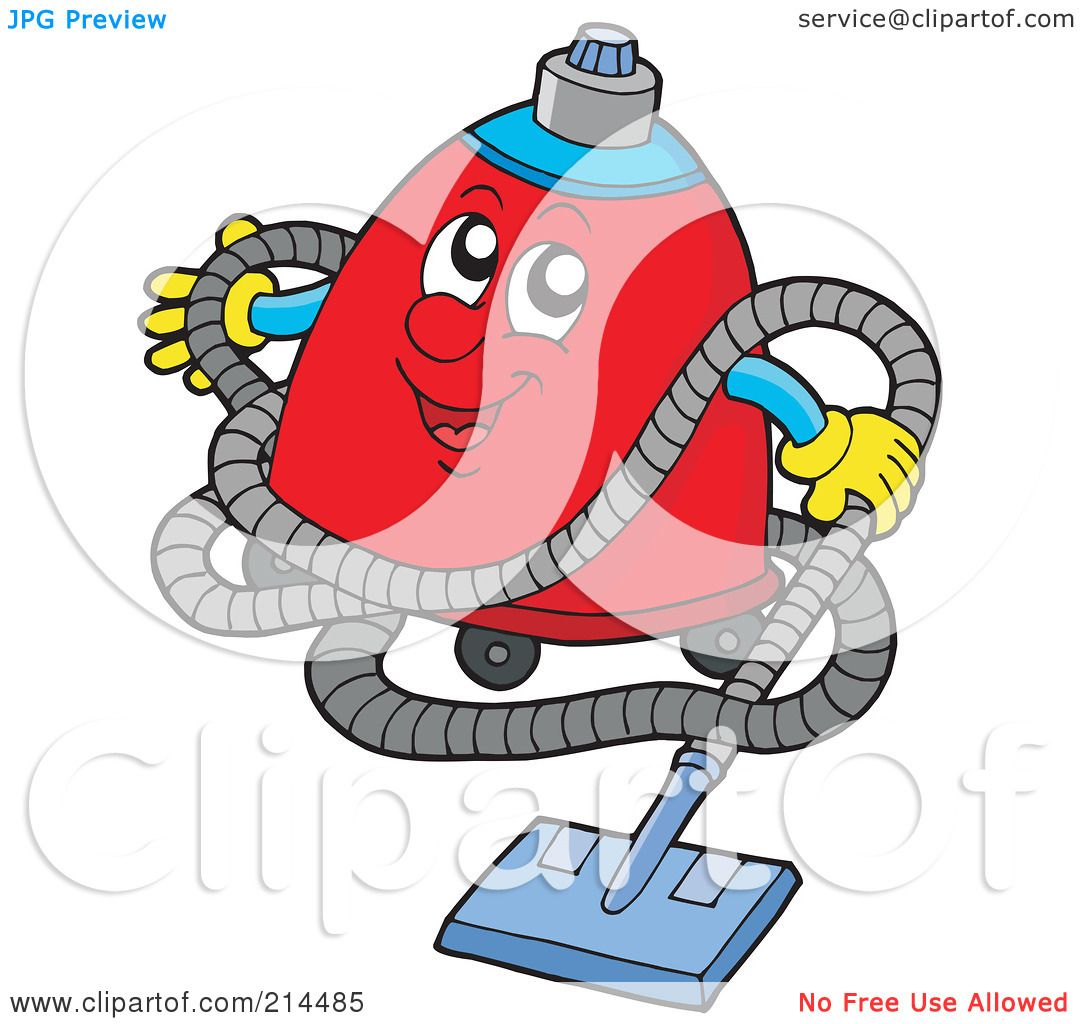 Vacuum cleaner clipart vacuum cleaner clip art - Royalty Free Rf Clipart Illustration Of A Happy Red Vacuum Cleaner By Visekart