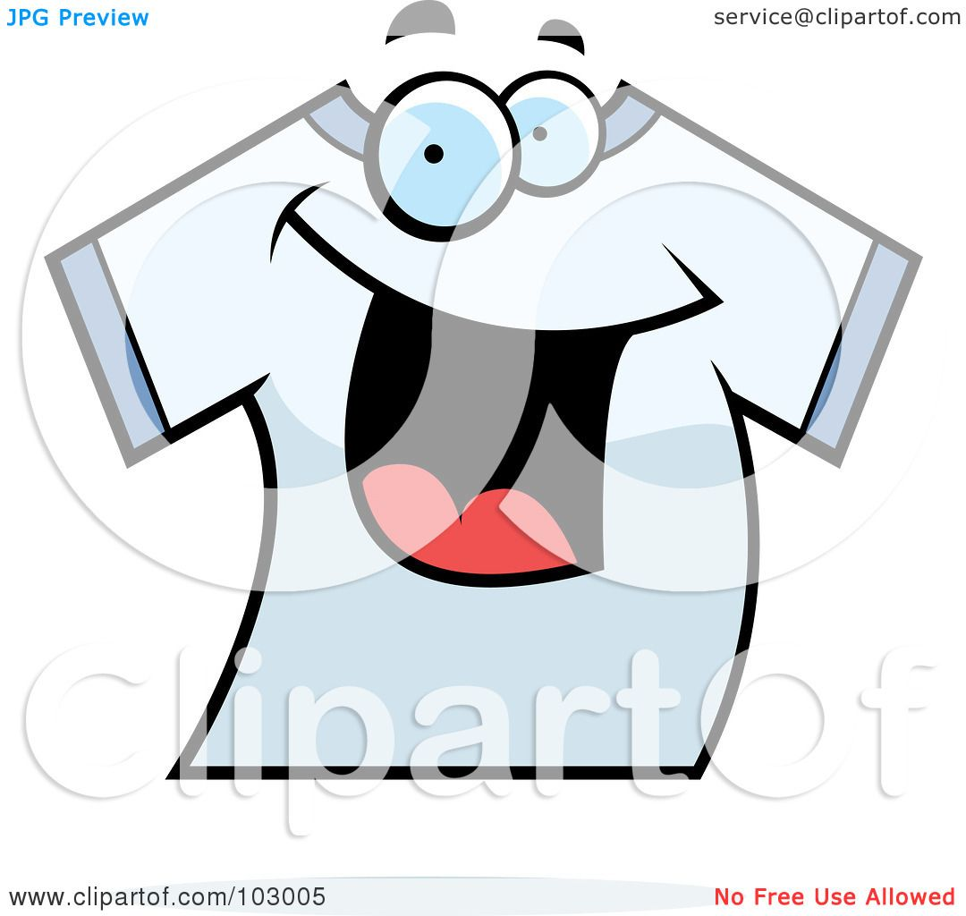 ea2a77343 Royalty-Free (RF) Clipart Illustration of a Happy Smiling T Shirt by Cory