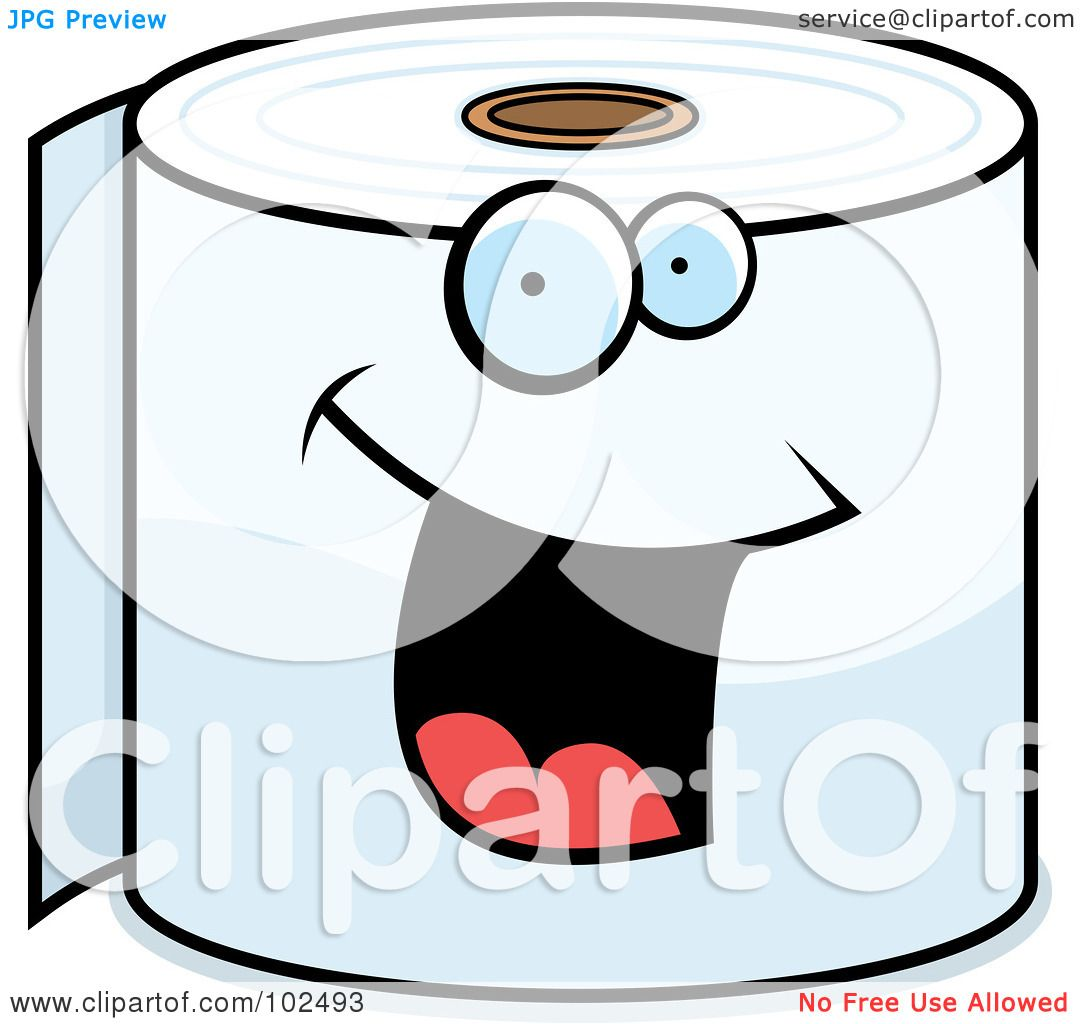Royalty-Free (RF) Clipart Illustration of a Happy Smiling Toilet ...