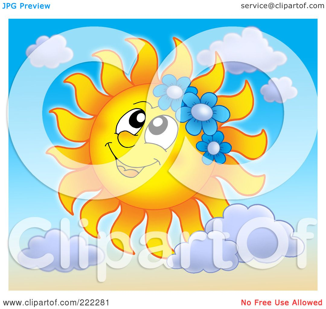 Royalty-Free (RF) Clipart Illustration of a Happy Summer ...