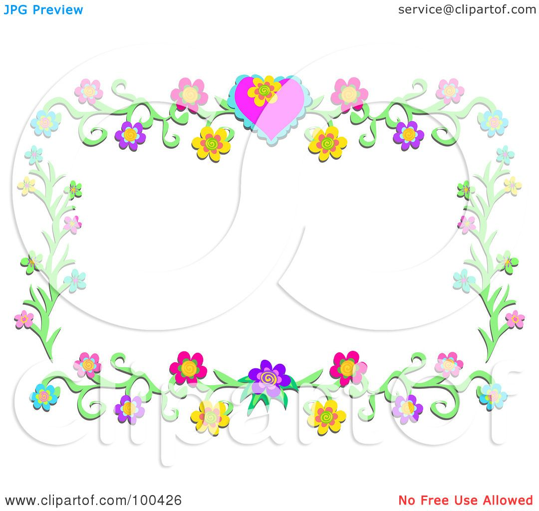 Royalty-Free (RF) Clipart Illustration of a Heart Flower ...