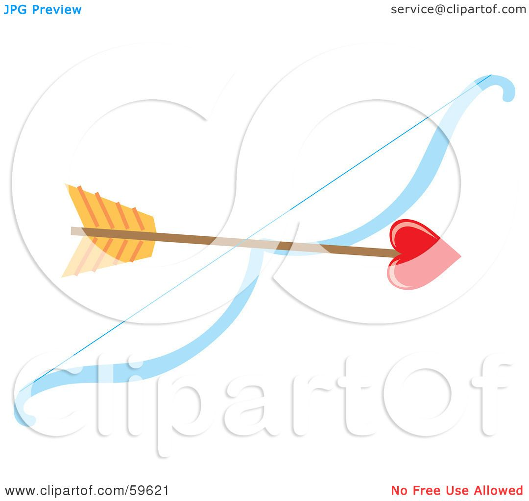Royalty-Free (RF) Clipart Illustration of a Heart Tipped ...