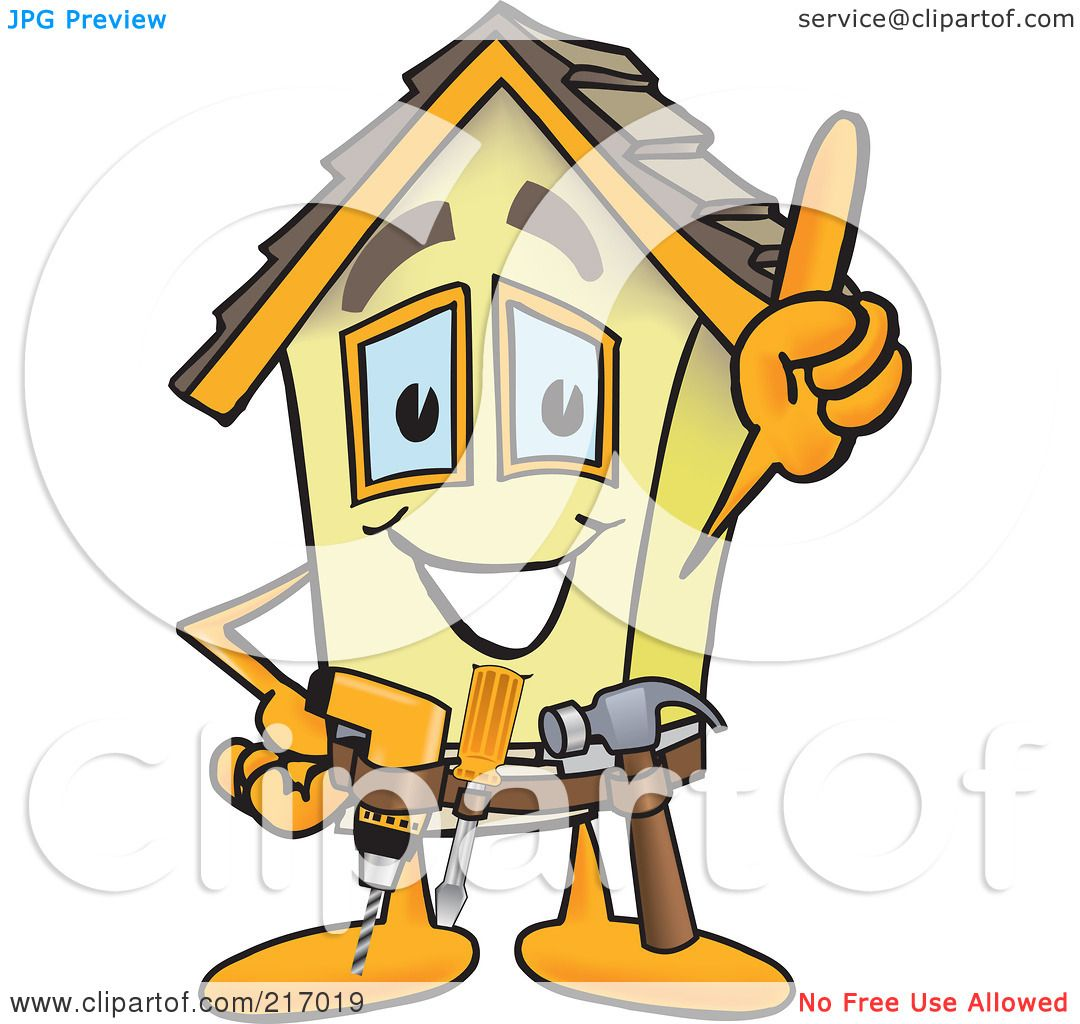 royalty free  rf  clipart illustration of a home mascot free handyman clipart images handyman clip art free with a beard