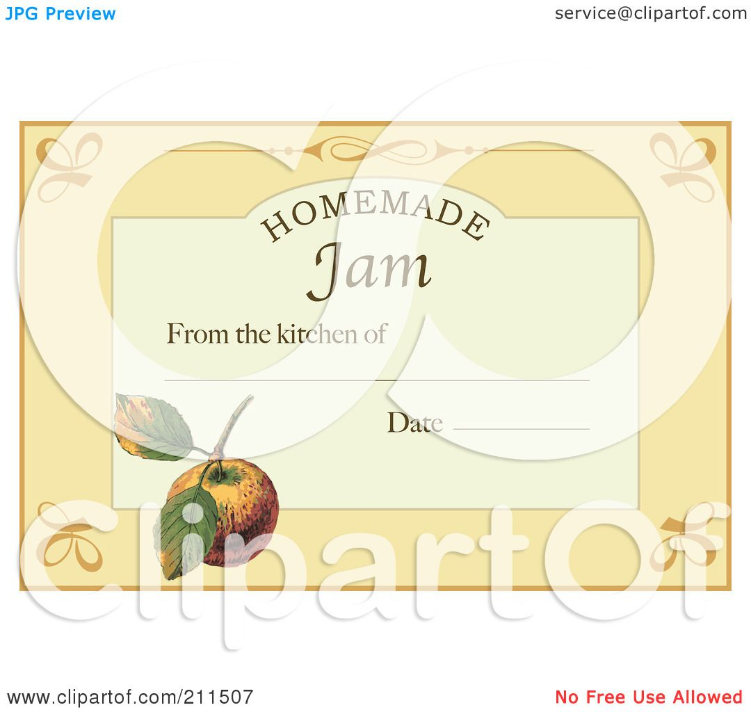 Royalty-Free (RF) Clipart Illustration of a Homemade Jam Label ...