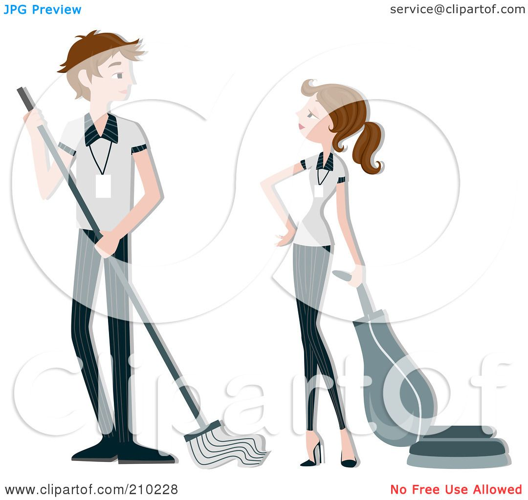 Royalty-Free (RF) Clipart Illustration of a Housekeeping Couple ...