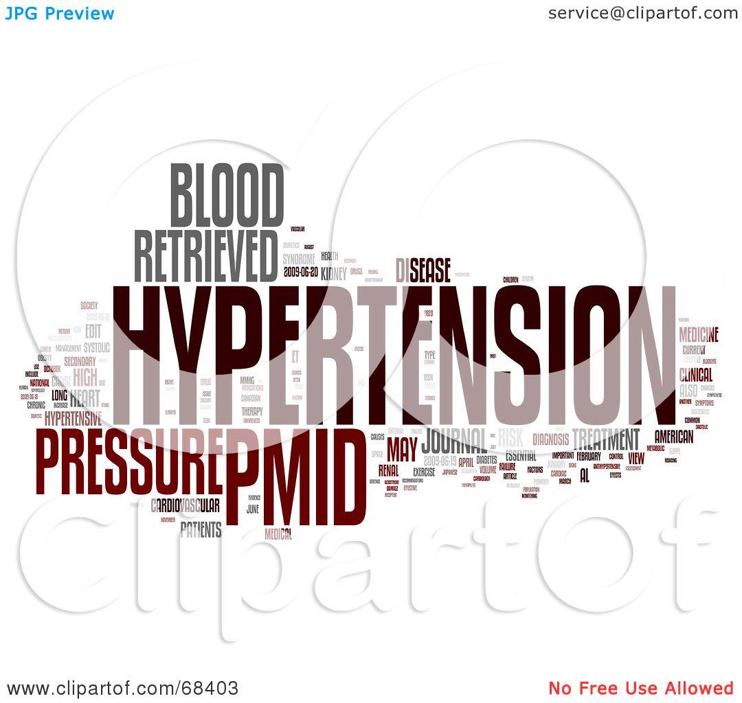 RoyaltyFree RF Clipart Illustration of a Hypertension