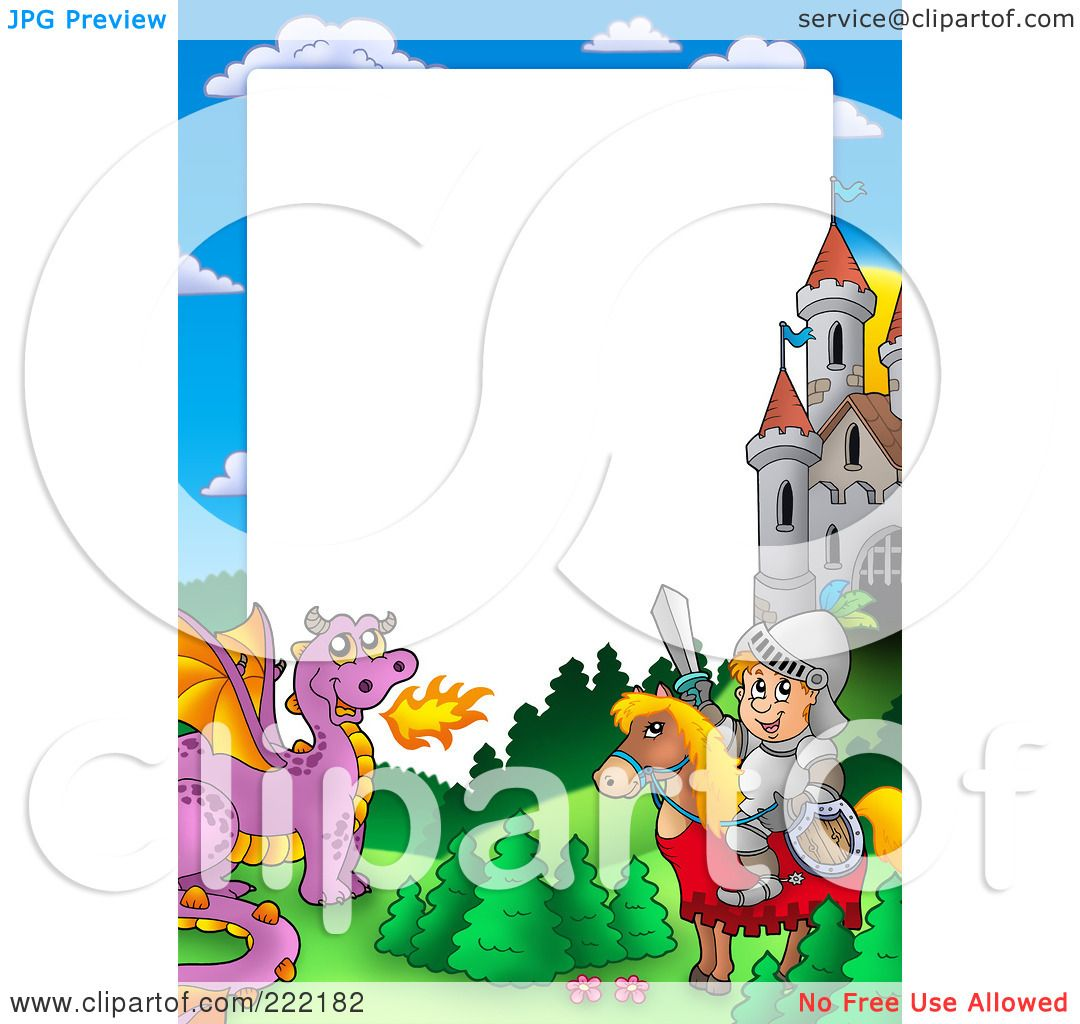 Royalty Free Rf Clipart Illustration Of A Knight And