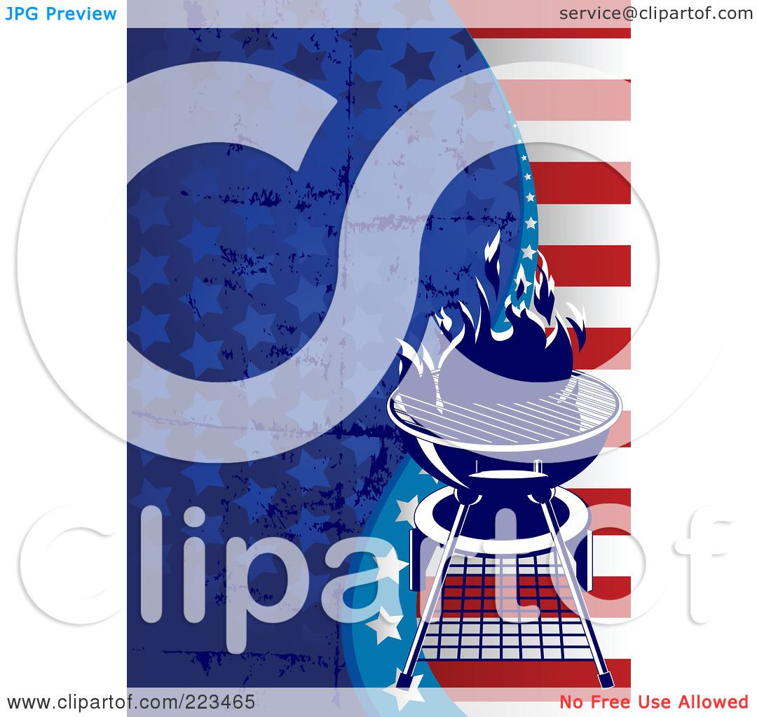 Royalty-Free  RF  Clipart  Labor Day Bbq Clip Art