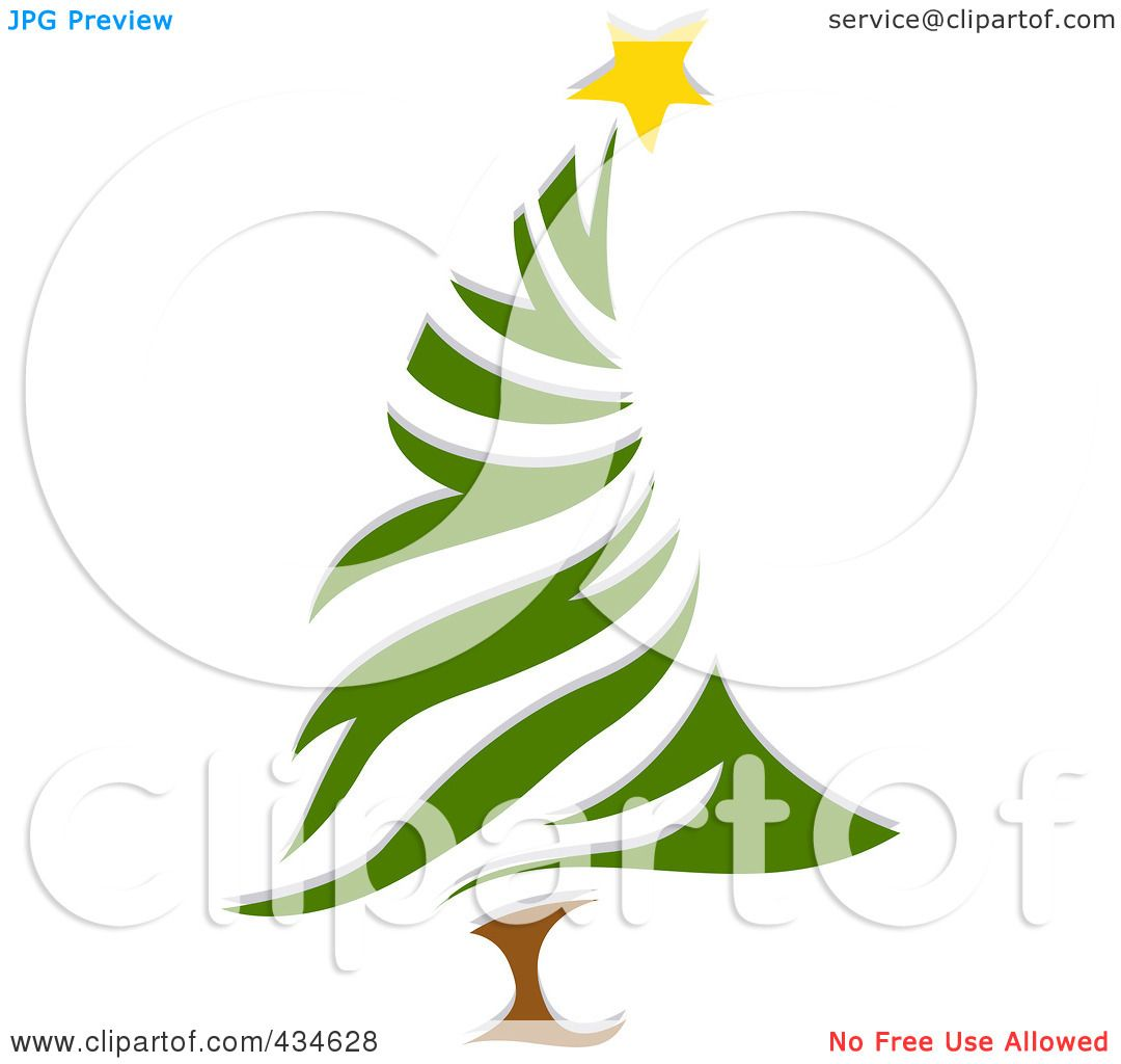 Royalty-Free (RF) Clipart Illustration of a Leaning Christmas Tree ...