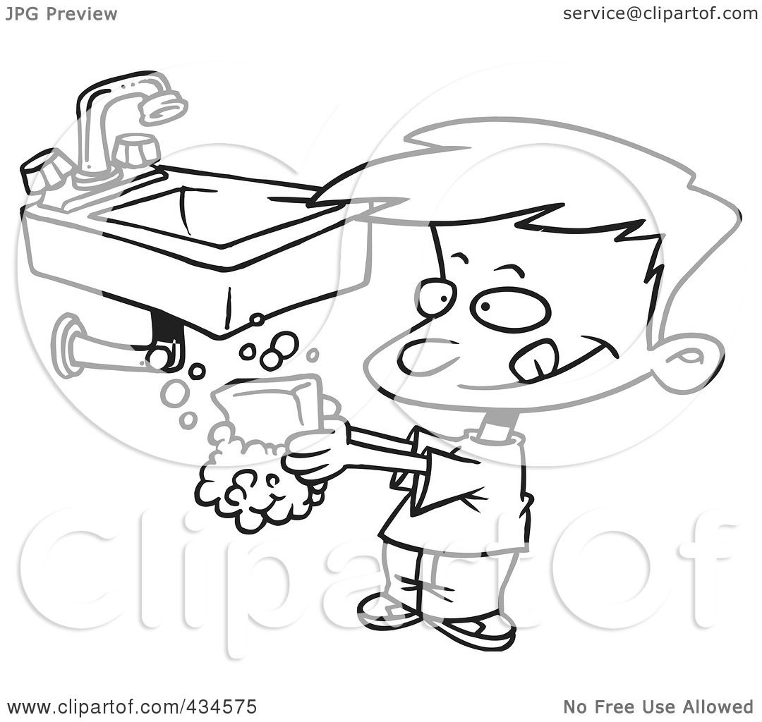 Royalty-Free (RF) Clipart Illustration of a Line Art ...