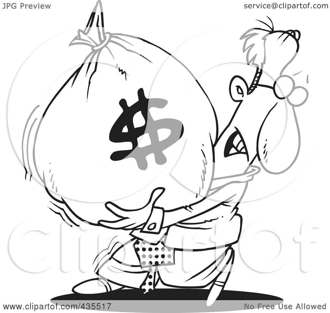 Free Money Drawings Money Bag