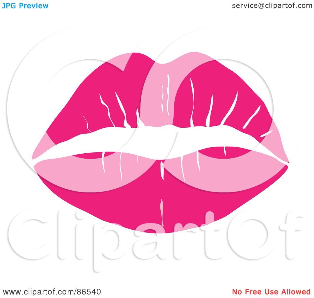 Royalty-Free (RF) Clipart Illustration of a Lipstick Smooch Kiss ...