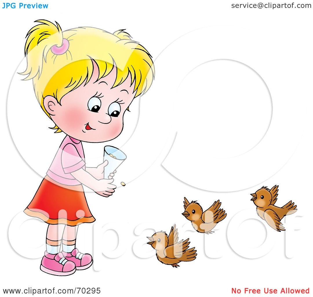 Royalty Free RF Clipart Illustration Of A Little Blond