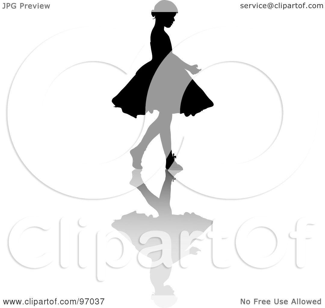 royalty free rf clipart illustration of a little ballerina